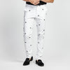 STRAIGHT WHITE STEERING WHEEL PRINT POCKET PANT