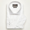 SLIM FIT LONG SLEEVE WHITE OXFORD COTTON SHIRT
