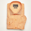 SLIM FIT LONG SLEEVE ORANGE OXFORD COTTON SHIRT