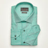 SLIM FIT LONG SLEEVE GREEN OXFORD COTTON SHIRT
