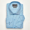 SLIM FIT LONG SLEEVE TURQUISE OXFORD COTTON SHIRT