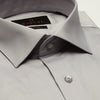 SLIM FIT LONG SLEEVE GREY BANGKOK COTTON SHIRT