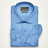 SLIM FIT LONG SLEEVE INDIGO FRANKFURT COTTON SHIRT
