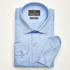 SLIM FIT LONG SLEEVE BLUE CANCUN COTTON SHIRT