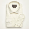 SLIM FIT LONG SLEEVE CREAM HAWAII COTTON SHIRT