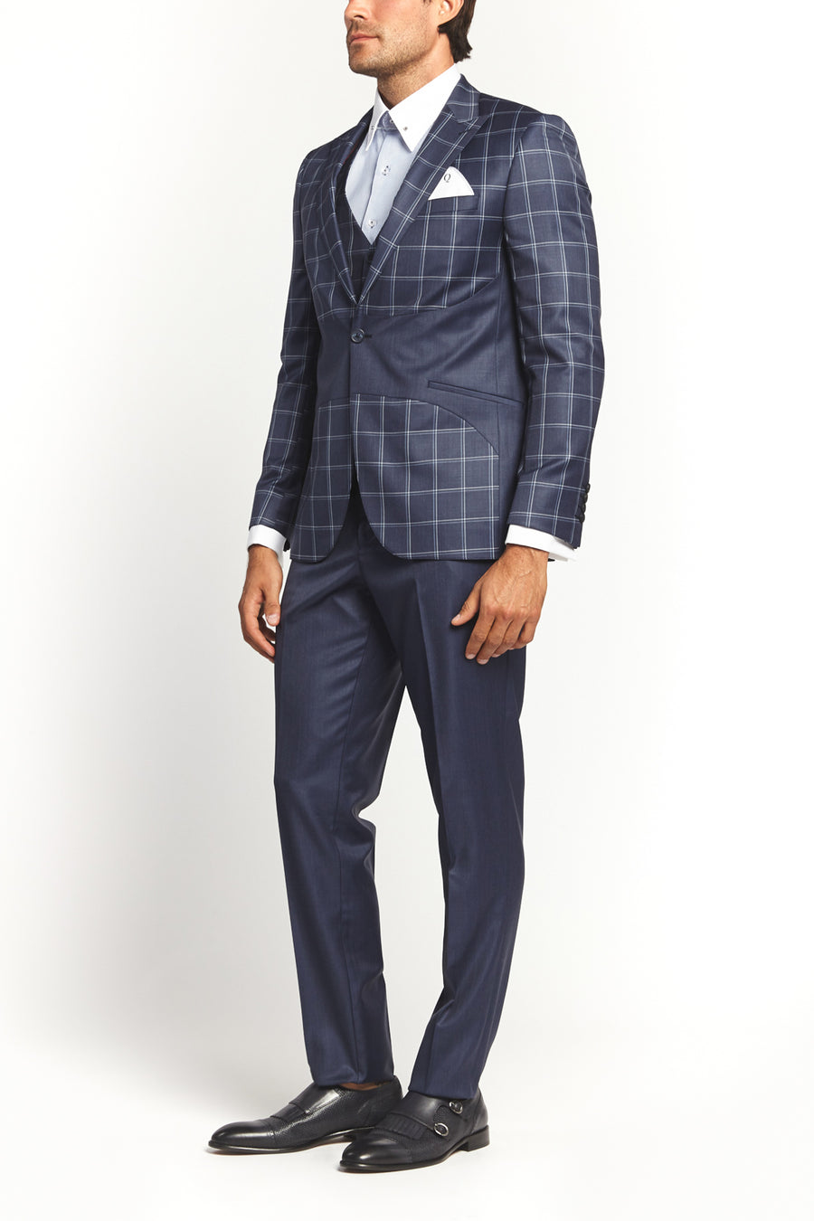 CLASSIC BLUE PATTERN 2-PIECE SUIT