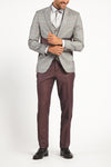 CLASSIC GREY PATTERN 2-PIECE SUIT