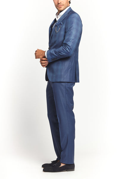 CLASSIC LIGHT BLUE PATTERN 2-PIECE SUIT