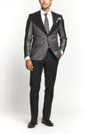 CLASSIC BLACK AND GREY 2-PIECE SUIT