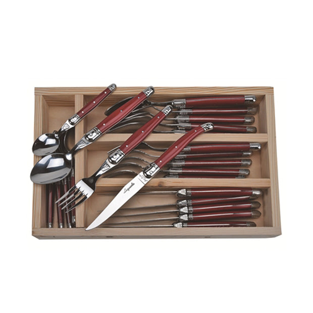 The French Farm Utensils Red (24 pieces)