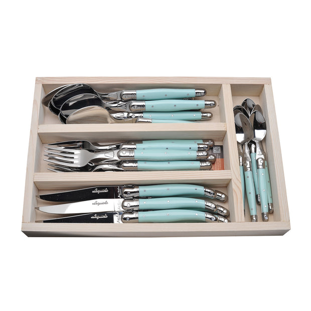 The French Farm Utensils Turquoise (24 pieces)