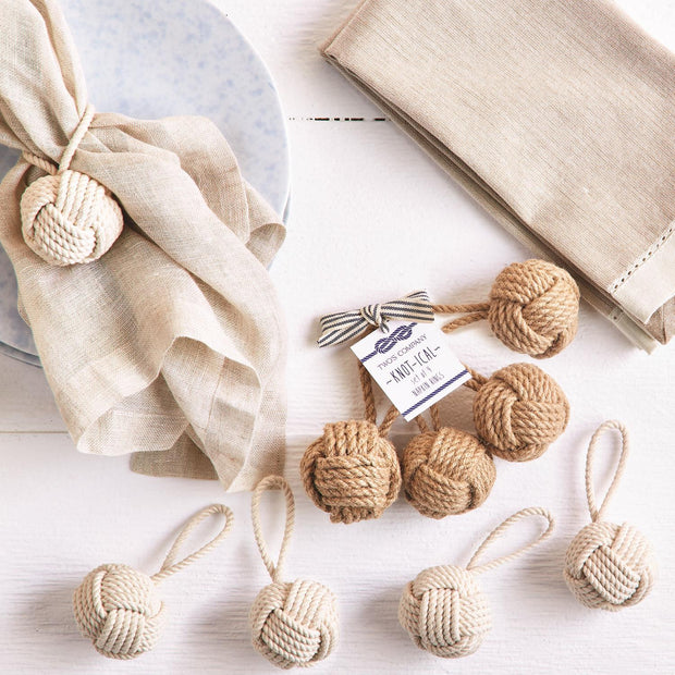 Knot Napkin Rings Set of 4