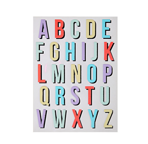 Meri Meri Alphabet Stickers - Large