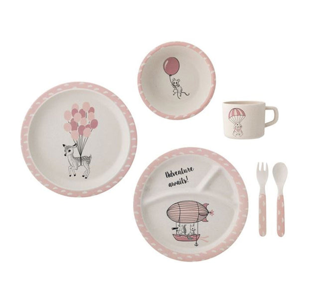 Bloomingville Bamboo Amelia Serving Set Pink