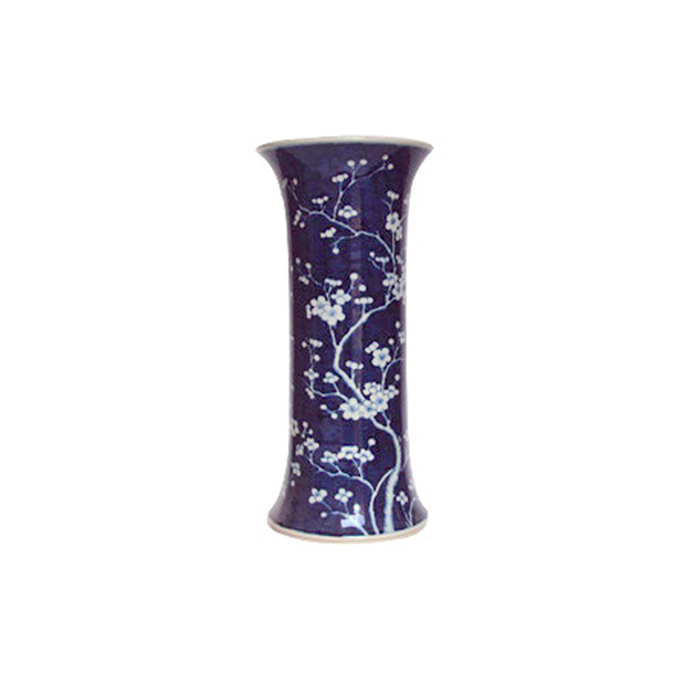 Legend of Asia B&W Plum Blossom Umbrella Stand Vase - Le Papillon Gallery