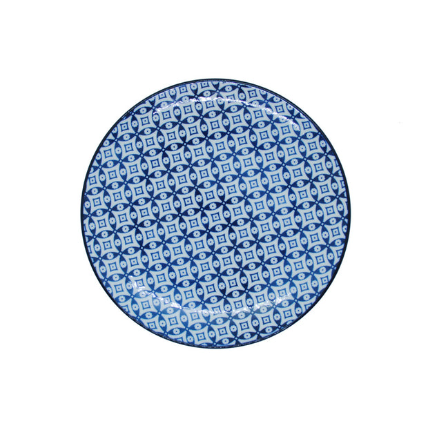 Vagabond Blue and White Round Plate S4A
