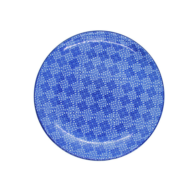Vagabond Blue and White Round Plate S4D