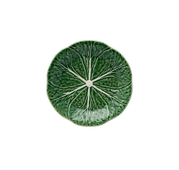 Bordallo Pinheiro Cabbage Dessert Plate 19 Green/Natural - Le Papillon Gallery