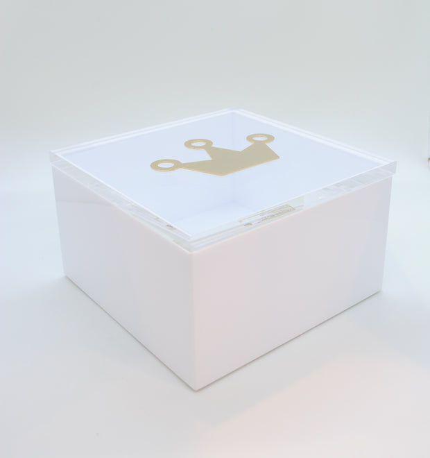 "Intersilver New Style ""Crown"" 15x15 Baby Bliss Keepsake Box - Le Papillon Gallery"