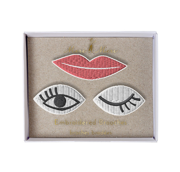 Meri Meri Eyes & Lips Brooches