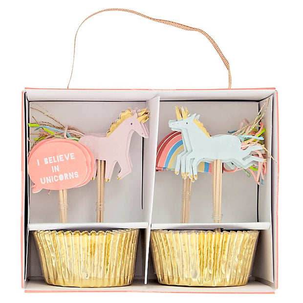 Meri Meri I Believe in Unicorns Cupcakes Kit - Le Papillon Gallery