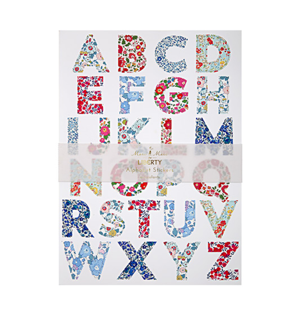 Meri Meri Liberty Large Alphabet Stickers - Le Papillon Gallery