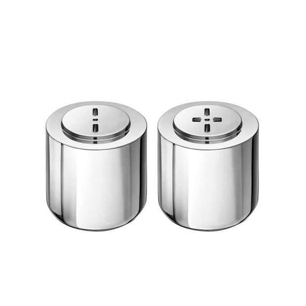 OH DE CHRISTOFLE Stainless Steel Salt and Pepper Shakers