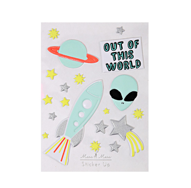 Meri Meri Out of this World Stickers - Le Papillon Gallery
