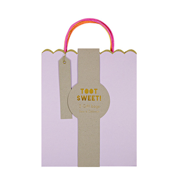 Meri Meri Pastel and Neon Gift Bags - Medium