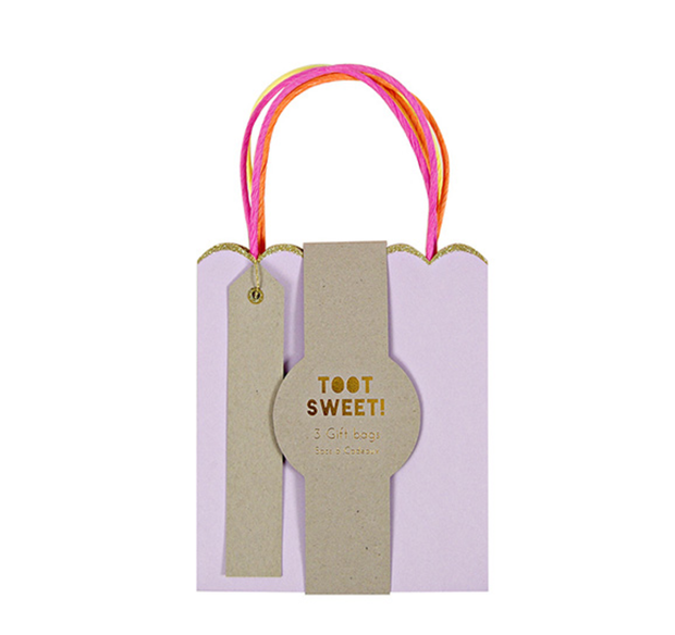 Meri Meri Pastel and Neon Gift Bags - Small