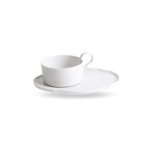 Reichenbach White Tea Cup with Saucer 0.22 l