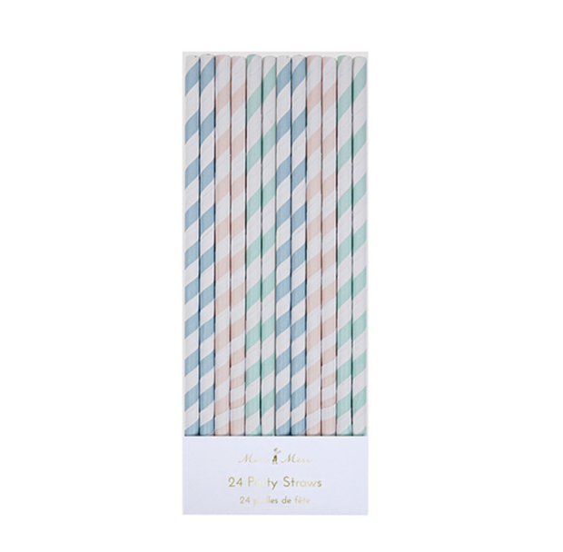 Meri Meri Pastel Party Straws - Le Papillon Gallery