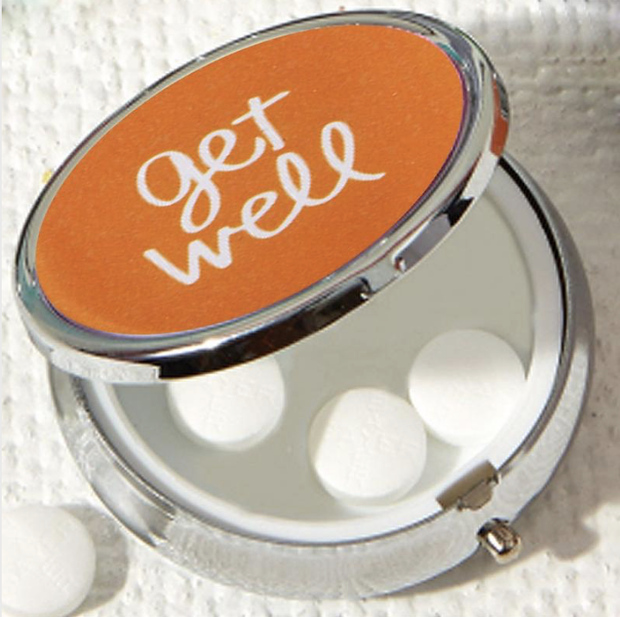 Two's Company Pill Box with Mirror
