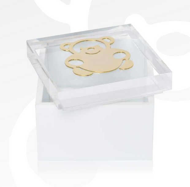 "Intersilver ""Smiley Bear"" 15x15 Baby Bliss Keepsake Box - Le Papillon Gallery"