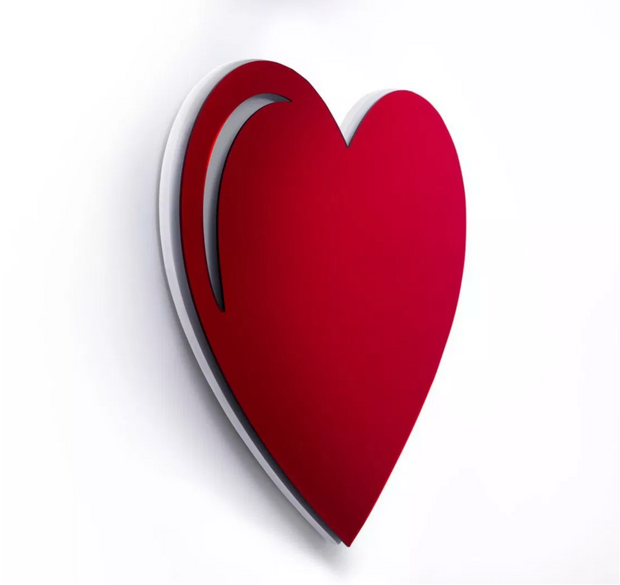 Heart Wall Sculpture – Acrylic
