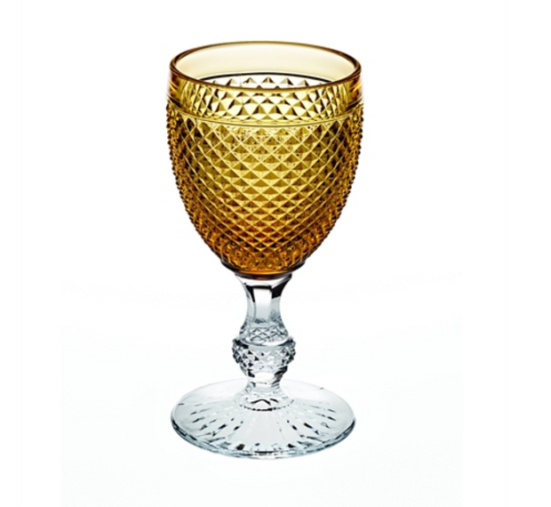 Bicos bicolor Goblet with Ambar top SET of 2 - Le Papillon Gallery