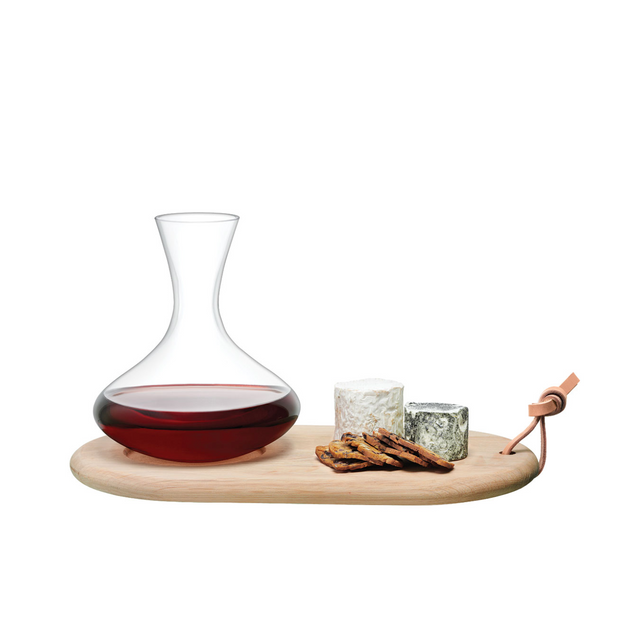 Wine Oak cheese board & Wine Garafe