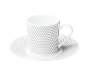 Madison6 Porcelain Demitasse and Saucer Set for 6 - Le Papillon Gallery