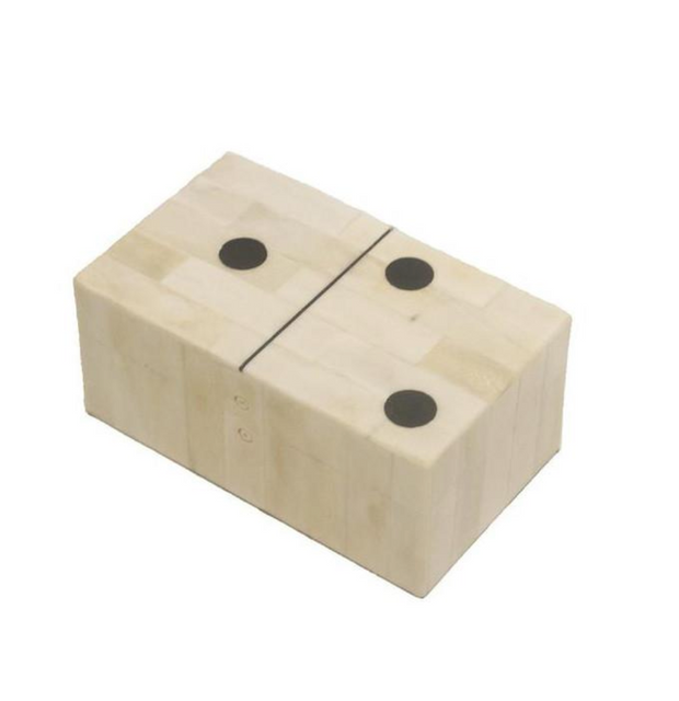 Bone / Raisin Domino box - Le Papillon Gallery
