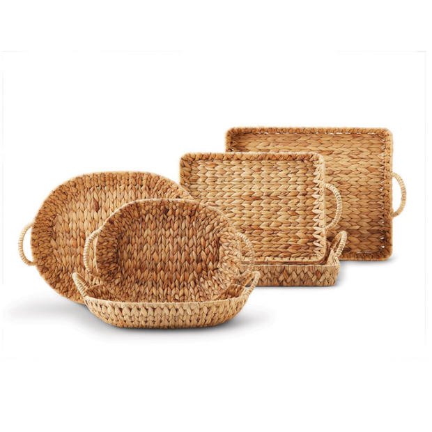 Hand-Crafted Water Hyacinth Trays