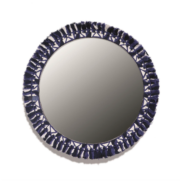 Santorini Hand-Crafted Fringe Wall Mirror - Le Papillon Gallery