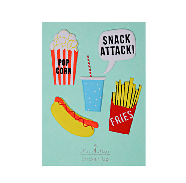 Meri Meri Snack Attack Stickers - Le Papillon Gallery