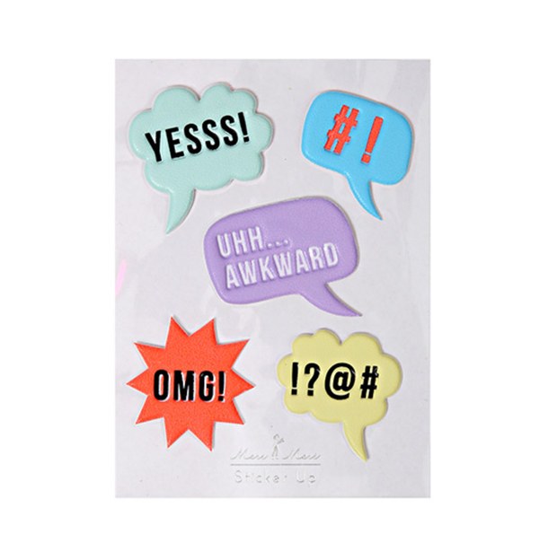 Meri Meri Speech Bubble Stickers