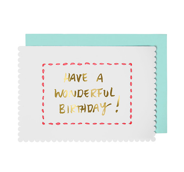 Meri Meri Stitched Birthday Card - Le Papillon Gallery