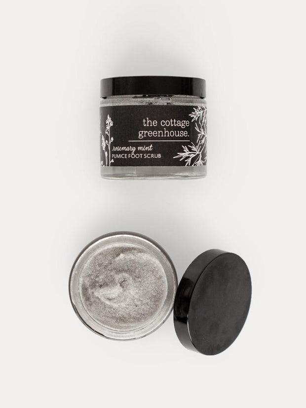 The Cottage Greenhouse Rosemary & Mint Pumice Foot Scrub