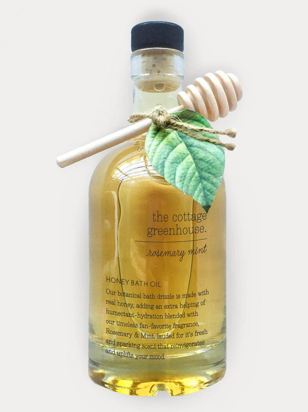 The Cottage Greenhouse Rosemary & Mint Honey Bath Oil
