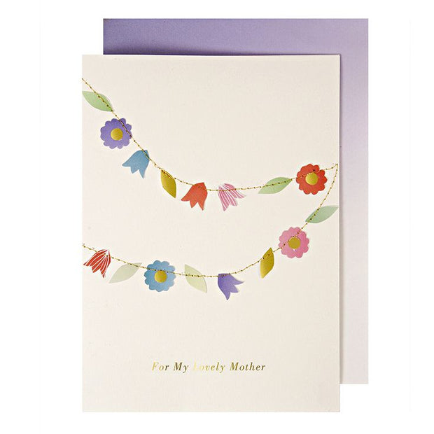 Meri Meri Thinking of You Flower Garland Card - Le Papillon Gallery