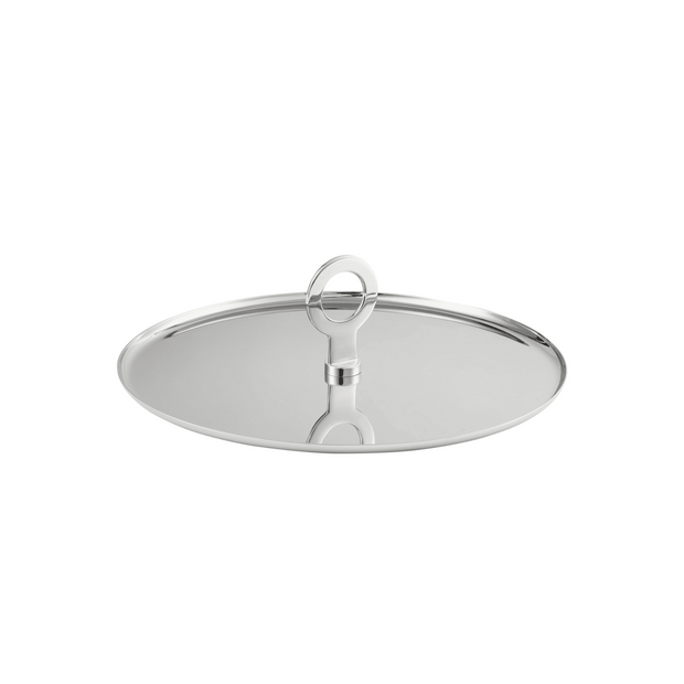 OH de Christofle Stainless Steel Appetizer Plate - Le Papillon Gallery