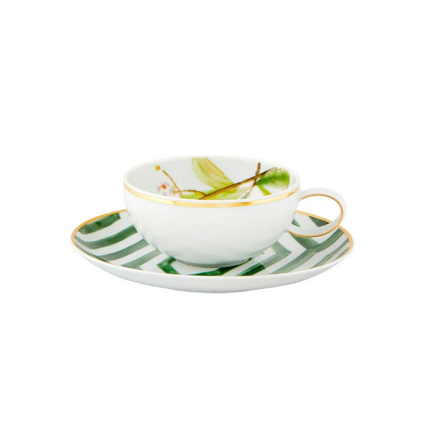 Amazonia Teacup and Saucer - Le Papillon Gallery