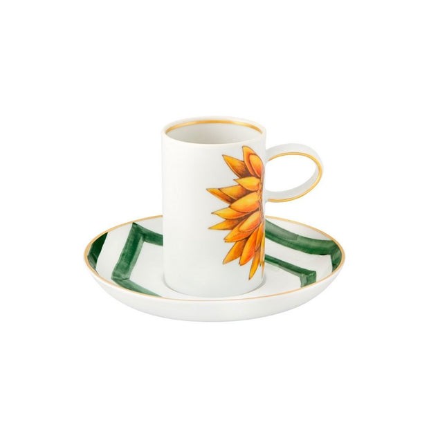 Amazonia coffee cup and saucer - Le Papillon Gallery